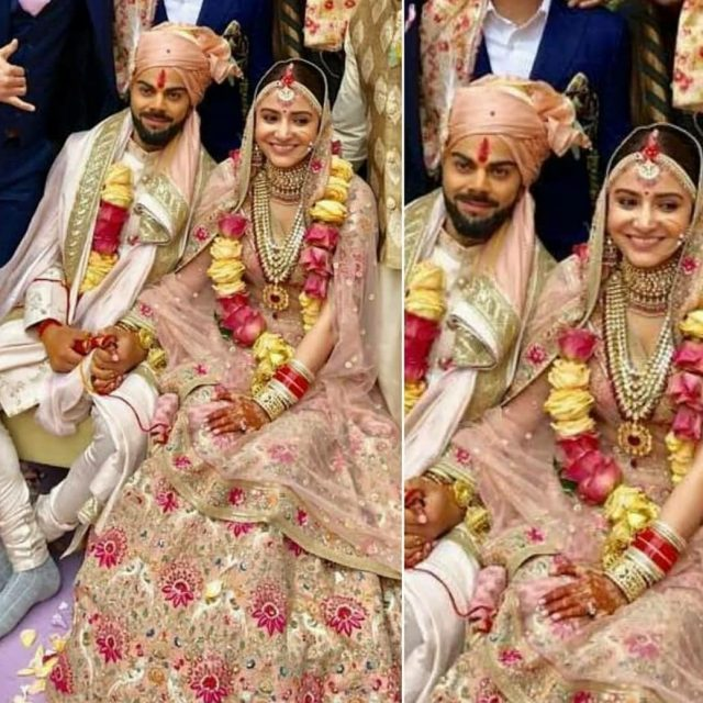 Congratulations viratkohli and anushkasharma weddingdress wedding indianwedding thelifestylejournalist bollywood stylehellip