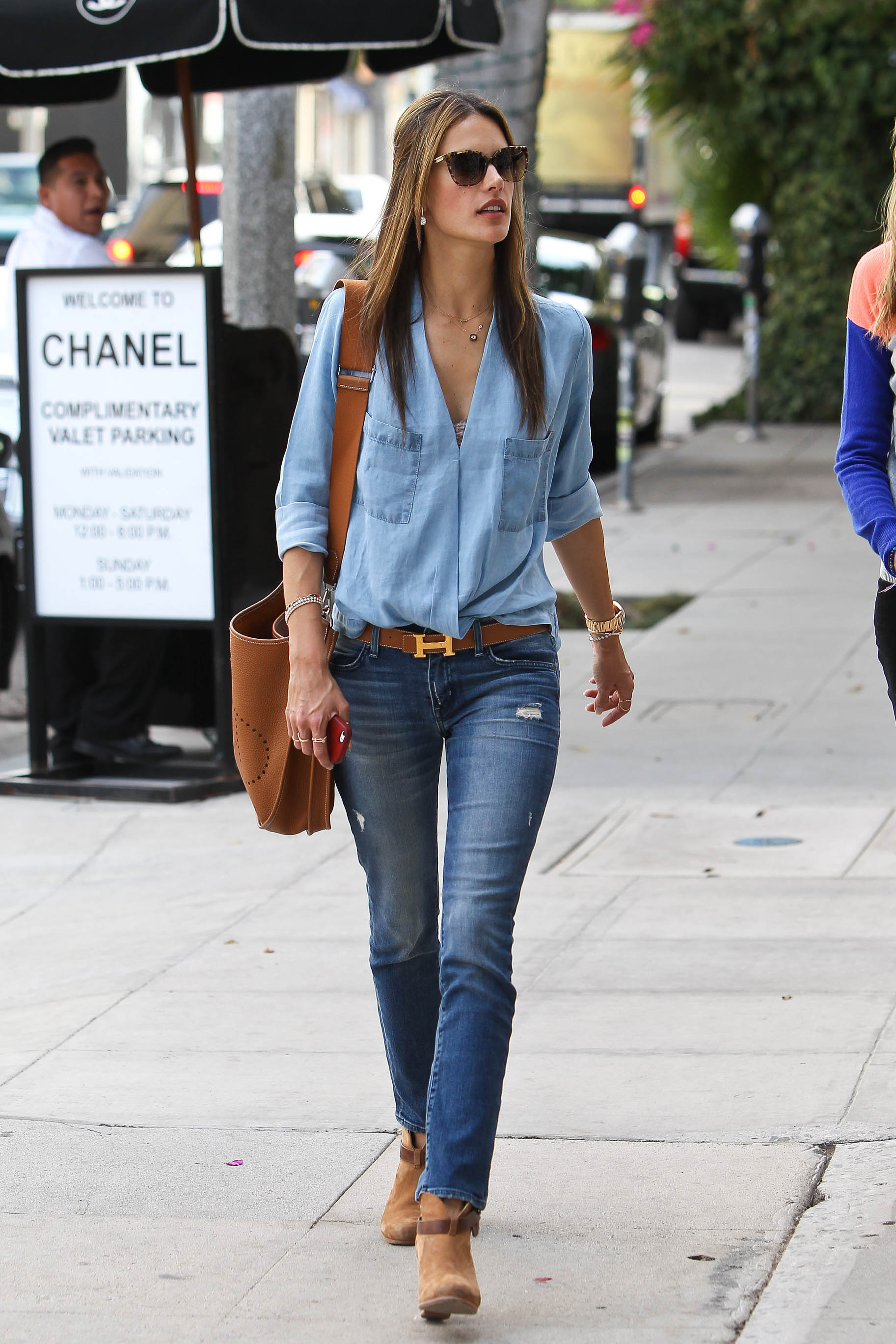 Alessandra Ambrosio out for lunch with a friend in Beverly Hills