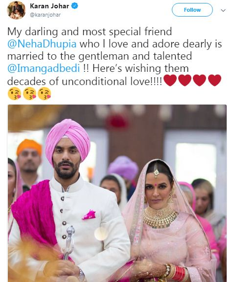 Neha Dhupia Marriage Anagd bedi